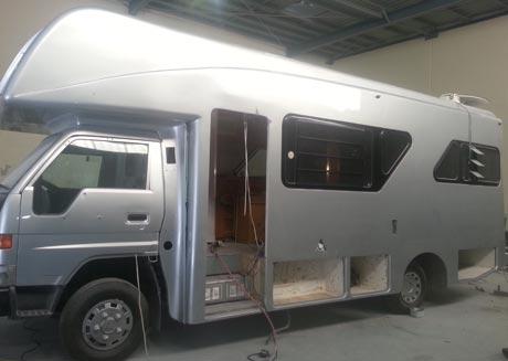 Fibreglass motorhome repair brisbane caravan after repair