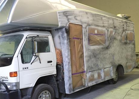 Fibreglass caravan repair Brisbane caravan