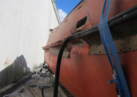 fibreglass boat hull repair brisbane Arnold Fibreglass Repairs work